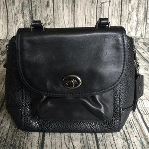 COACH Small Black Women's Leather Purse